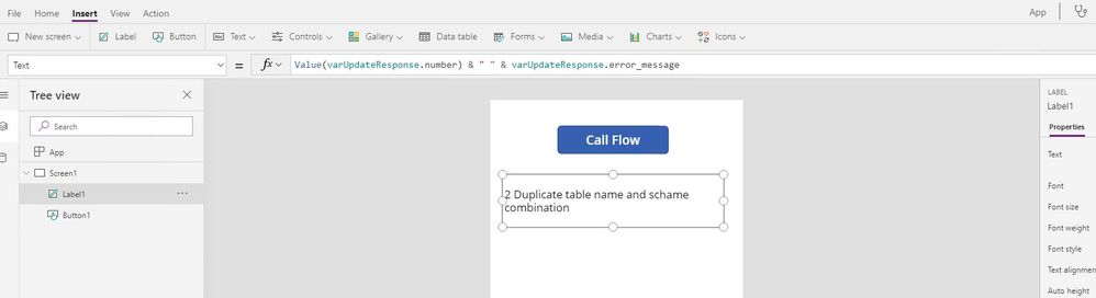 Flow response not showing correctly in PowerApps - Power
