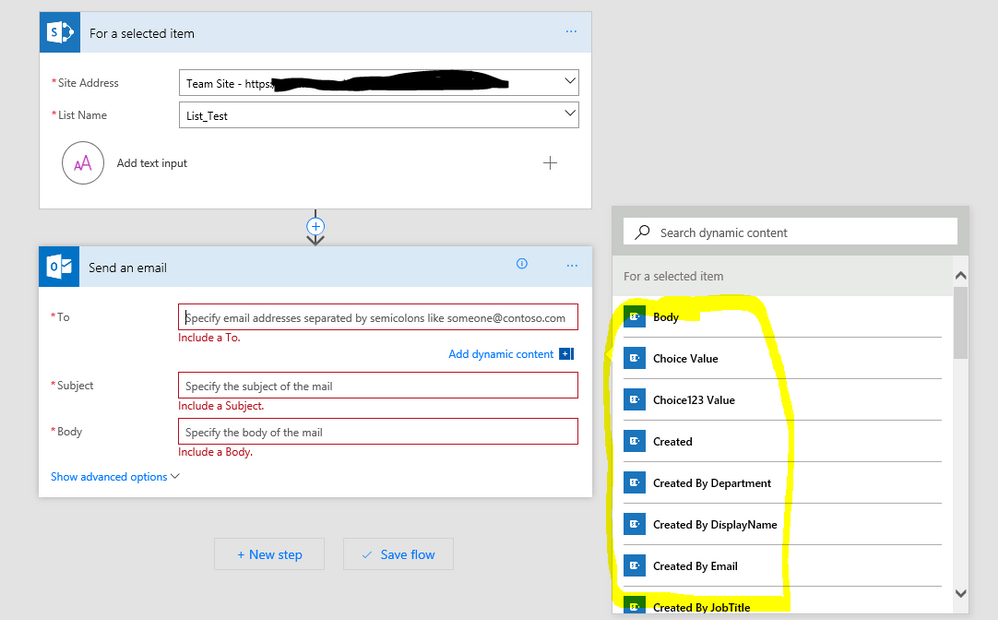 Solved: Creating a flow that retrieves multiple email addr