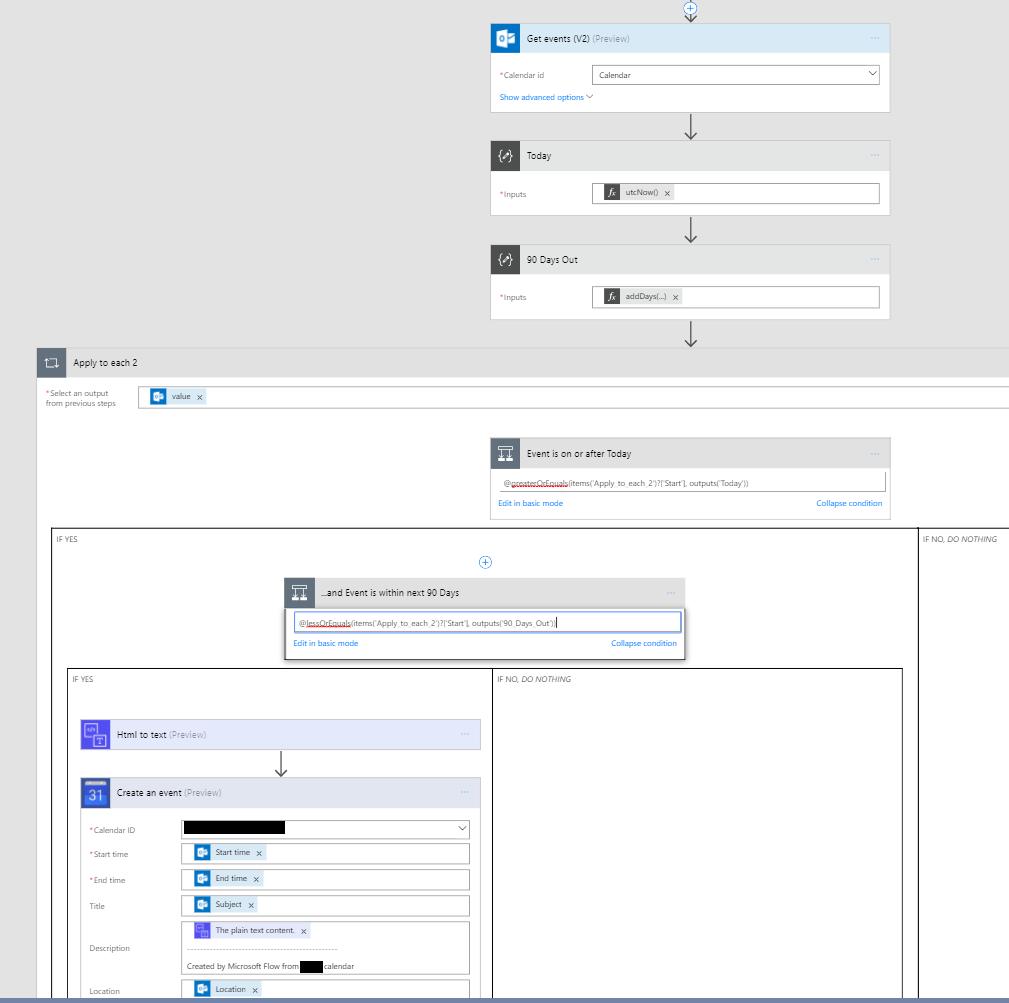 copying o365 calendar to google calendar recurri power users community